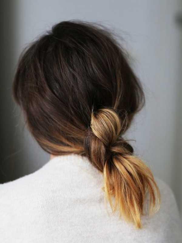 cola de caballo Ideas lindo peinado para el medio Hair0071