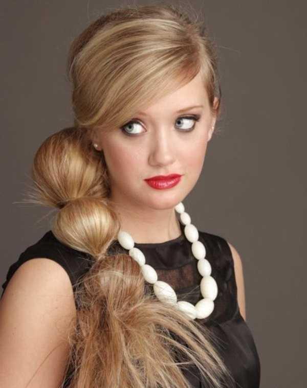 cola de caballo Ideas lindo peinado para el medio Hair0081