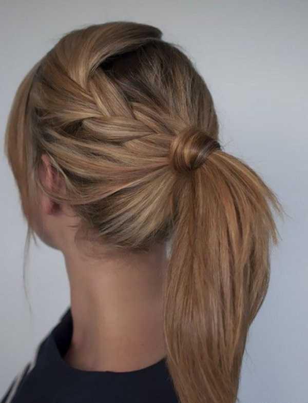 cola de caballo Ideas lindo peinado para el medio Hair0131