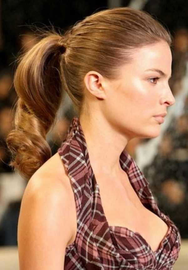 Ideas lindo peinado cola de caballo para el medio Hair0191
