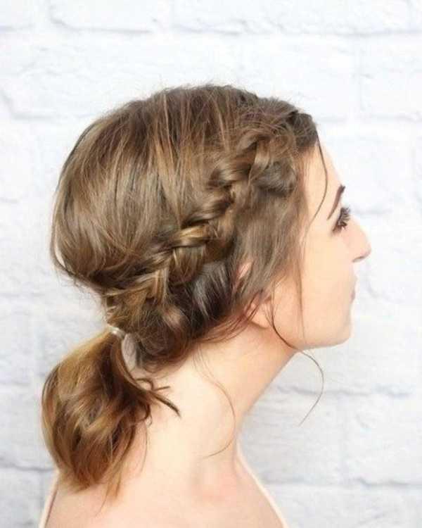 cola de caballo Ideas lindo peinado para el medio Hair0201