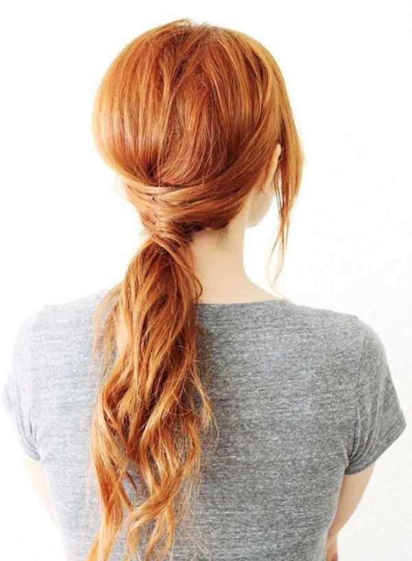cola de caballo Ideas lindo peinado para el medio Hair0241
