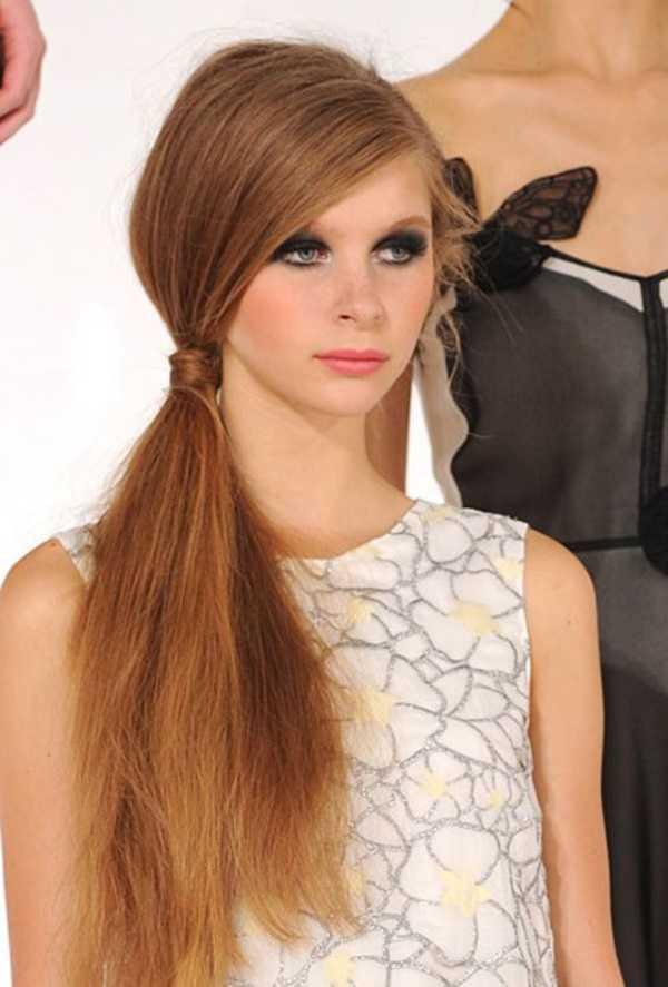 cola de caballo Ideas lindo peinado para el medio Hair0261
