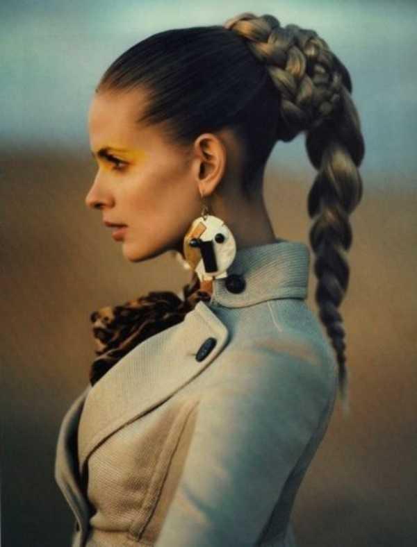 cola de caballo Ideas lindo peinado para el medio Hair0271