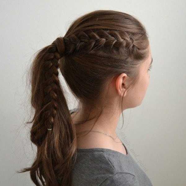 Ideas lindo peinado cola de caballo para el medio Hair0321