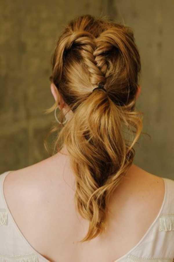 cola de caballo Ideas lindo peinado para el medio Hair0341