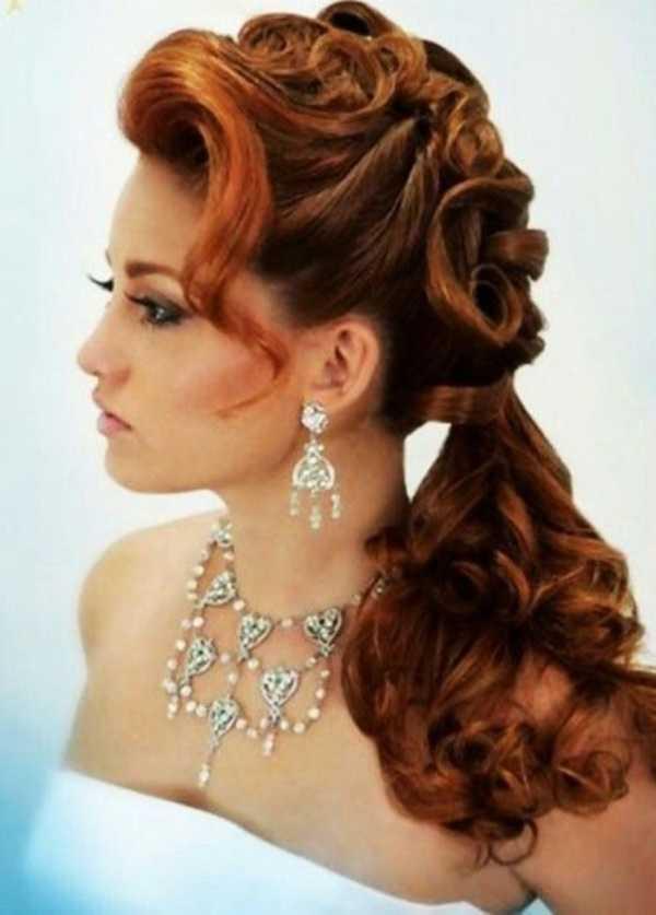 cola de caballo Ideas lindo peinado para el medio Hair0391