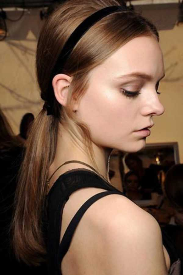 cola de caballo Ideas lindo peinado para el medio Hair0401