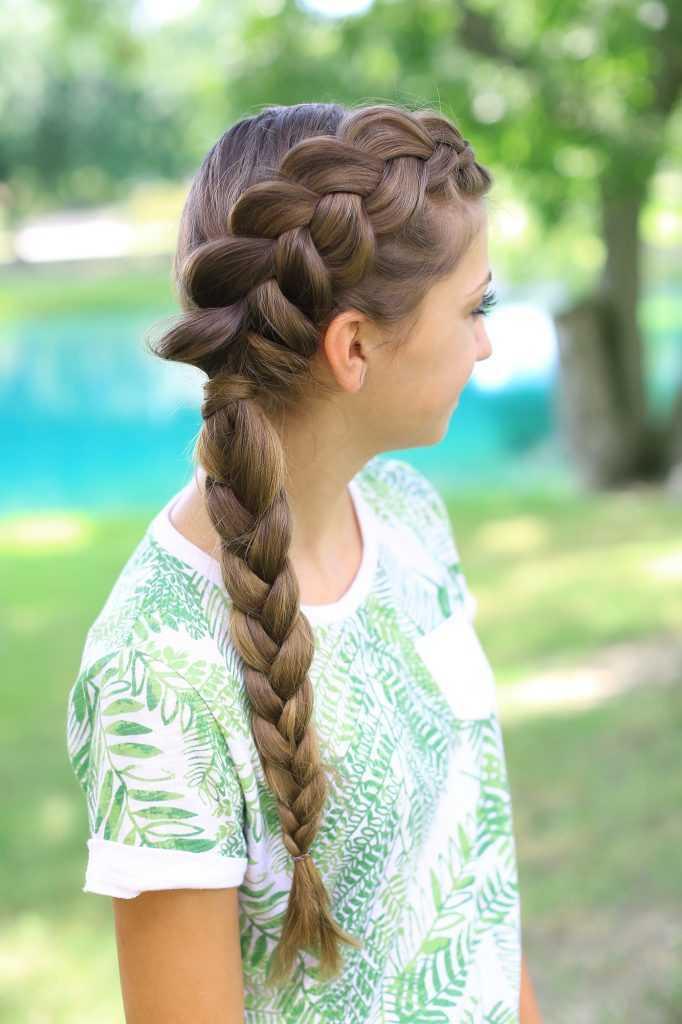 lado holandés de la trenza Combo | lindas chicas peinados