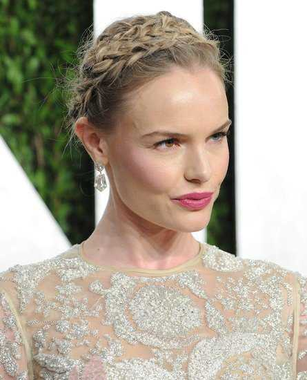 Kate Bosworth Corona trenza a través de