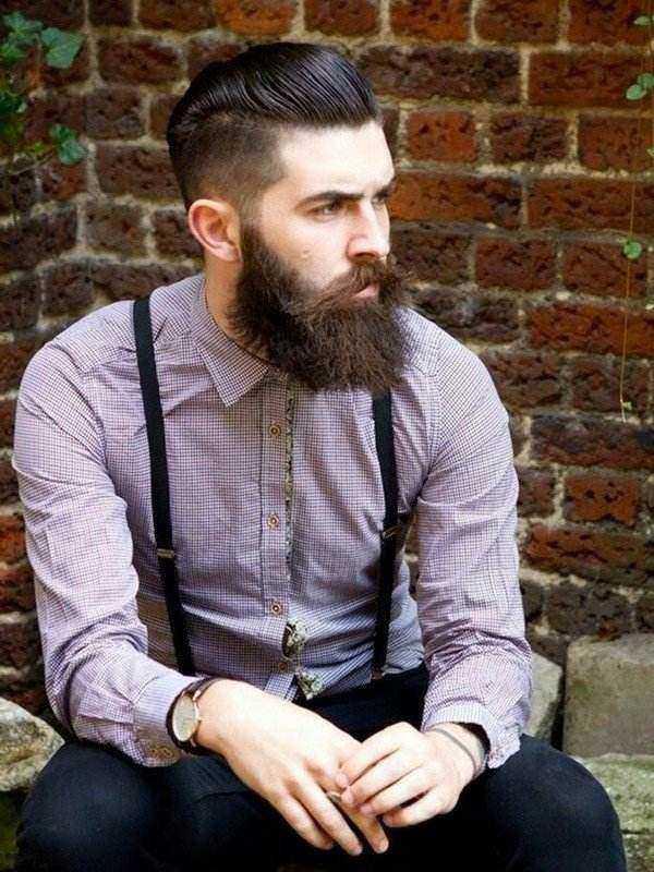 Pompadour con la barba