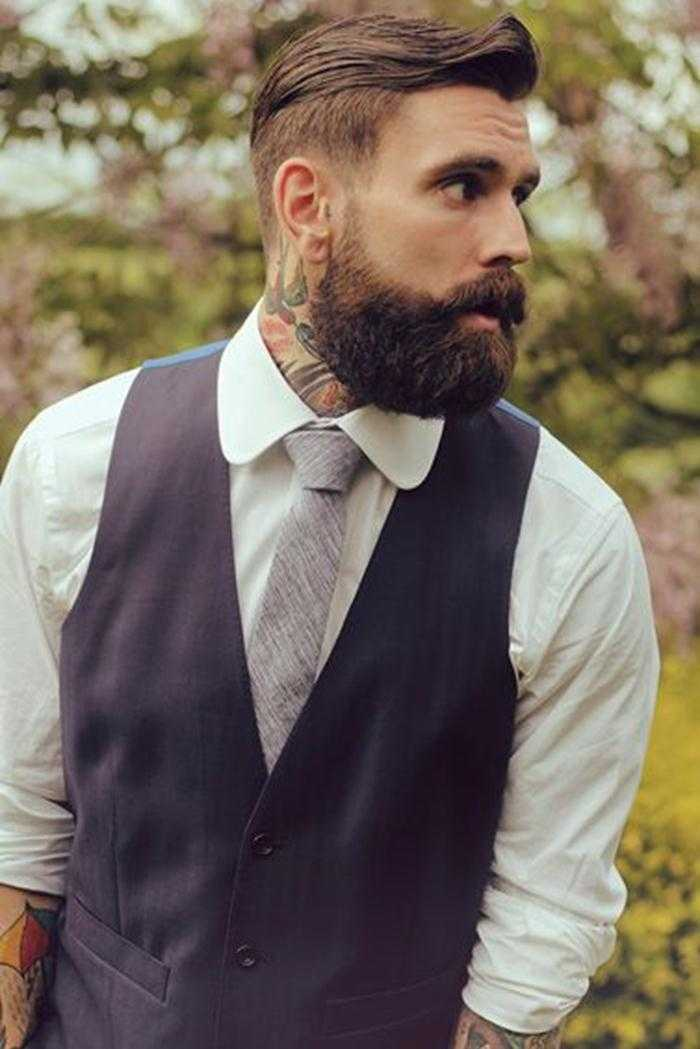 punk Hombre Con Pompadour peinado