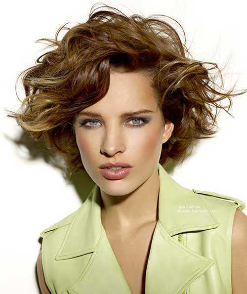cortes de pelo corto para rizado ondulado pelo