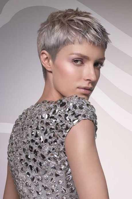 cortes de pelo corto y gris para