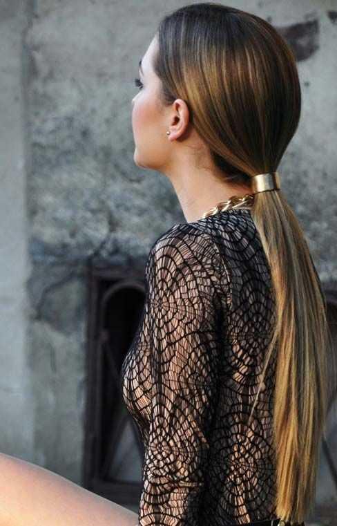 cola de caballo elegante peinados 25