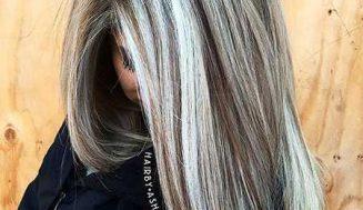 28 peinados largos grises