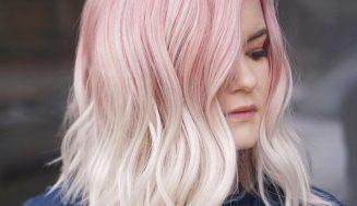 Peinados medianos a largos en emocionantes colores rubios