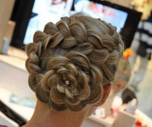 Formal-Braided-Rose-Chignon