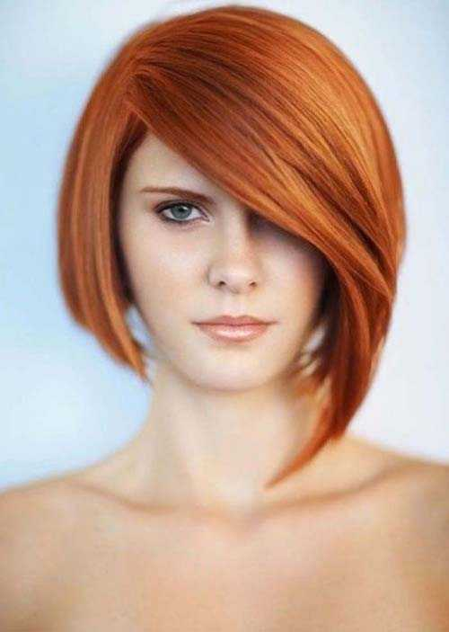 Short-Bob-Strawberry-Blonde-Hairstyles