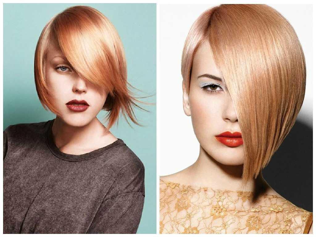 Side-Swept-Asymmetrical-Strawberry-Blonde-Bob