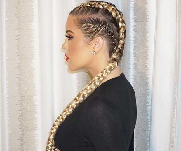 khloe-kardashian-Long-Braided-Dutch-Braided-Hairstyle