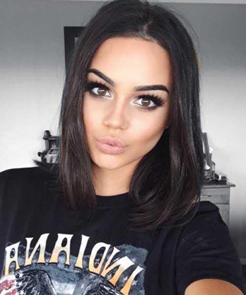 Corte de pelo parejo para mujeres