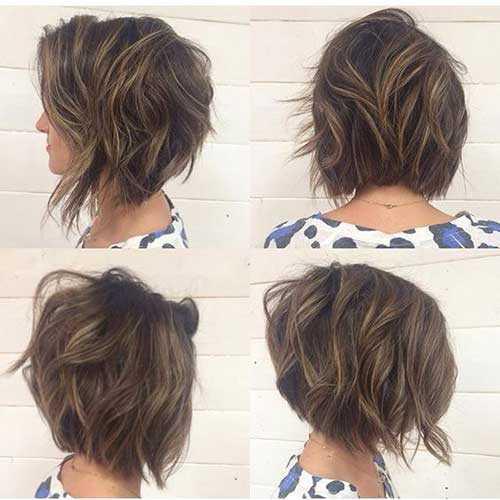 Corte de pelo bob corto ondulado